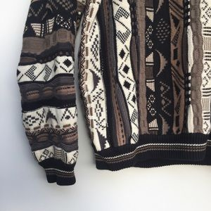 Vintage Sweaters - Vintage Cotton Traders Pattern Knit Sweater XL